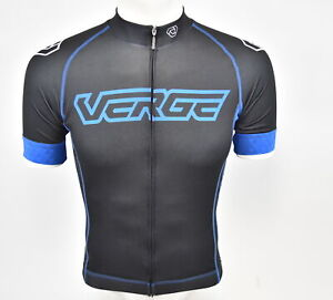 Verge XS Men's Core Fitted Short Sleeve Cycling Jersey Black/Blue Brand New