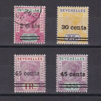SEYCHELLES 1902, SG# 41-45, CV £65, MH/Used