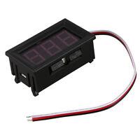 S6 Mini Voltimetro Medidor de Voltaje Presion Digital DC 0-30V Rojo