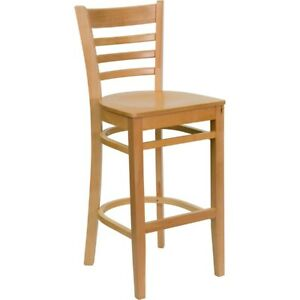 Flash Furniture Wood Restaurant Bar Stool, Natural - XU-DGW0005BARLAD-NAT-GG