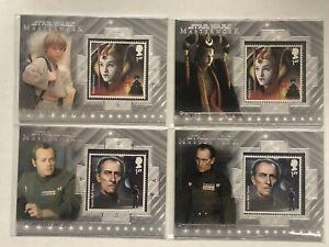 (4) Star Wars Masterwork 2020 STAMP RELIC ANAKIN & AMIDALA /Grand Moff Tarkin
