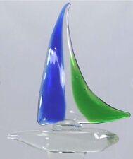 Sailboat Wine Bottle Stopper Hand Blown Glass NIB