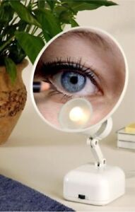 Floxite 15X Supervision Magnifying Mirror Light, Dove White