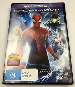 The Amazing Spider-Man 2 Rise Of Electro DVD 2014 L R2,4,5 with Tracking