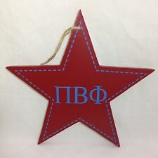 "Pi Beta Phi Star Decorative Wall Plaque Sorority College Dorm Decor 9-1/2"""