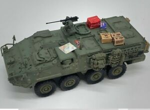 New 1/72 Scale US Army Stryker Wheeled Armored Vehicle Green Color Plastic Model