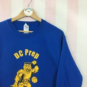 Vintage sweatshirt with graphic basketball tiger design Size Small