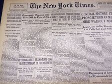 1946 MARCH 3 NEW YORK TIMES - GREENWICH OPPOSES UN SITE - NT 3464