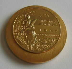 Gold First Place Winner's Medal Barcelona 1992 Olympic Games Final Proof XR
