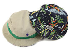 Polo Ralph Lauren Reversible Safari Bucket Hat Cap Tan w/ Green & Navy Aloha