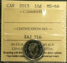 2015 Canada 10 Cents ICCS MS 66 #5225