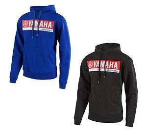 Troy Lee Designs TLD Mens Yamaha RL1 Fleece Pullover Hoody Hoodie Black Blue