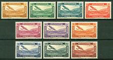 Syria 1934, Airmail, Plane Over Bloudan Village, MVLH, SC# C57-C66, Rare 4733