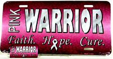 PINK WARRIOR Combination license plate Key Ring. Auto tag  LP-8244, KC-8244