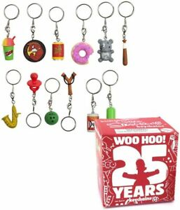 10 x Simpsons 25th Anniversary 4cm Keychain Mystery Blind Box - Collectible.