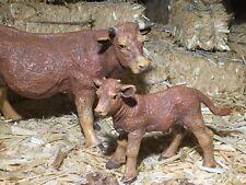 Cow & Calf Figurines Papo Nativity Scene Village Farm Animales para Pesebre Vaca
