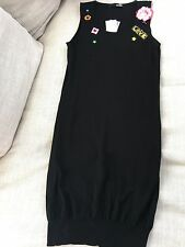 NWT Moschino LOVE cotton dress hand made unique MSRP $750 Size 10 US black