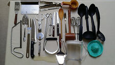 Set of 25 Kitchen Utensils-Mixed Cooking-Serving-Baking Used Good & VG