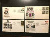 RICHARD NIXON AND CARTER 4-FDC LOT-FINE-FREE SHIPPING