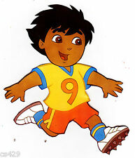 """4.5"""" Dora & diego soccer sports peel & stick wall border cut out character"""