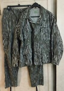 CABELA'S Realtree Camo Military set. Heavy Camo Shirt/Coat & Pants XL Sidney Tag