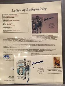 Muhammad Ali Autographed Joe Louis First Day Issue Envelope JSA Certified