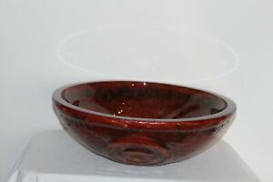 Modern Art Pottery Sink Bathroom Kitchen Sink Glazed Interior Red Color Designs