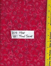 "204 TSW 108"" EXTRA WIDE QUILT BACKING BTY: TONAL SCROLL CHERRY RED"