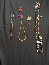 Estate Jewelry Lot 1 - Mixed With Necklace, Earrings And Pin