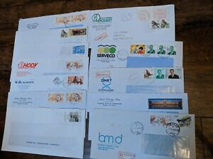 104 Belgium Multiple Stamps Business Mail Covers 1995-2000 Ad Corners Registered