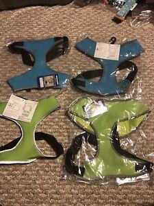 NWT! Casual Canine Reflective Neoprene Dog Pet Harness, Medium, Large Green Blue