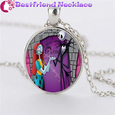 Nightmare Before Christmas jack&sally silver necklace for women men gift#YKL2