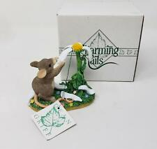 Charming Tails Fitz & Floyd You Love Me.Love Me Not Mouse Flower Figurine