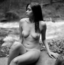 8 x 10 Fine Art NUDE print female model naked Black & White photograph. Signed!