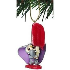 Disney Zootopia Baby Elephant With Ice Pop Pvc Figure Christmas Ornament New