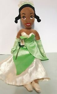 "Disney Store Princess Tiana Princess and the Frog soft plush toy doll 20"" Plush"