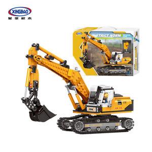 Xingbao XB-03038 Construction Zone Tracked Excavator Building Block Set 722pcs