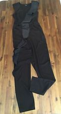 Marciano By Guess Women's Black Ruffle Front Pant Jumper Size 6