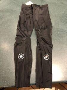 NWT Castelli Men's Lycra Leg Warmers Size Large Zipper Black with White Logo