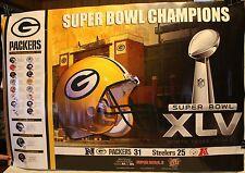 "Super Bowl XLV Green Bay Packers 36 x 24"" Super Bowl Champions Poster"