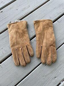 Kentfield  Mens Suede Gloves Size L/Large Genuine Brown Cowhide Working