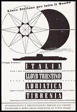 PUBBLICITA' 1953 NAVI FINMARE LLOYD TRIESTINO ADRIATICA TIRRENIA AUSTRALIA CIPRO