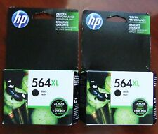 2 Pack HP Genuine 564XL Black Ink Cartridges (No Box) PhotoSmart 5510 6520 OEM