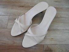 Bally beige leather sandals/mules EU37.5/38 UK4.5/5 perfect condition
