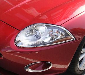 IDFR Jaguar XK / XKR X150 2007~2011 chrome frame bezel for head / front lights
