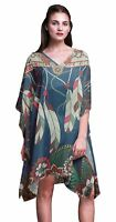 Phagun Ladies Plus Size Kaftan Summer Wear Beach Coverup Kimono-LlF