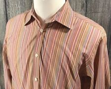 Ted Baker Jean Men's Button Front L/S Shirt Striped Size 4 Large Multi Color EUC