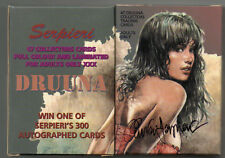 SERPIERI SET 47 PROMO CARDS CARTE DA COLLEZIONE DRUUNA - SIGNED AUTOGRAFATE