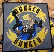 MONKEY GORILLA CHOPPER RIDER BIKER Embroidered Iron Sew Patch Logo BIG JUMBO