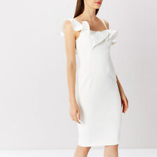Coast Ivory Clancy Ruffle Shift Dress Size 12 (BNWT)